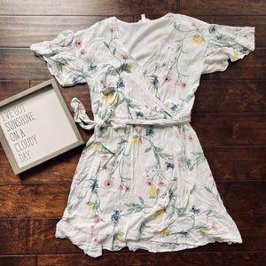 {LC Lauren Conrad} Floral Wrap Dress